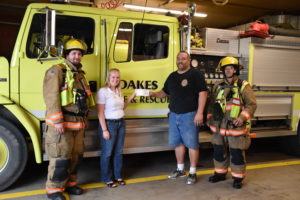 Oakes Fire Department Donation